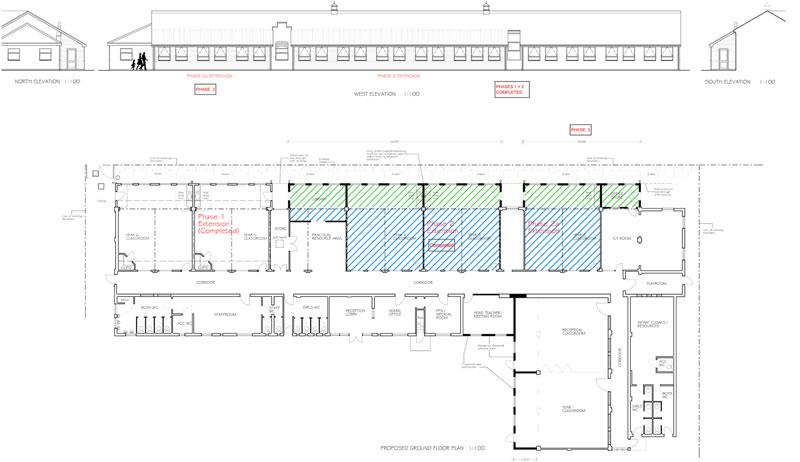 St. Vincent's Proposed Plan & Elevations